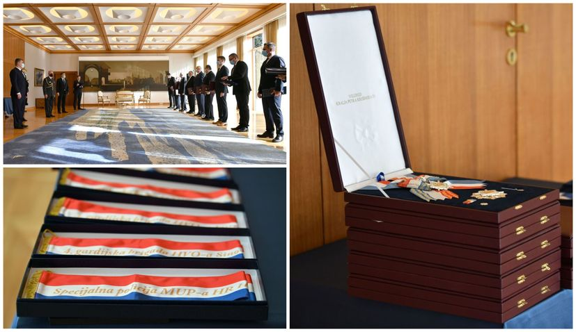 Retired generals of Croatian Army and Bosnia's HVO receive decorations from president