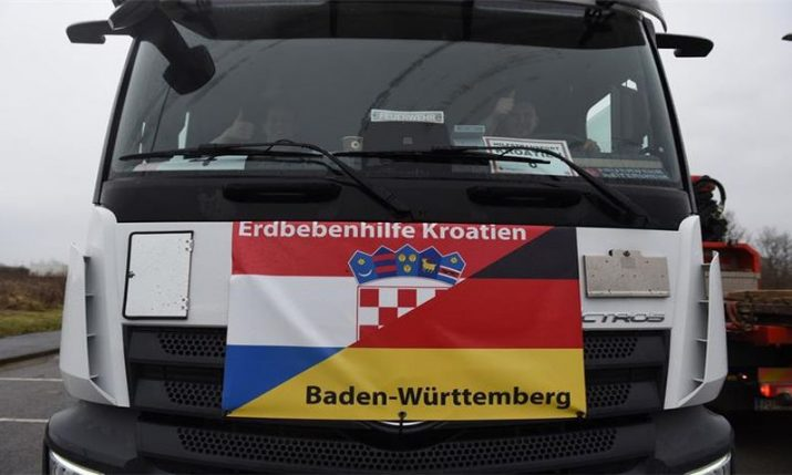 German firefighters bring third convoy of aid to quake-hit area in Croatia