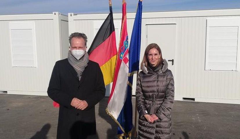 germany donate croatia earthquake containers