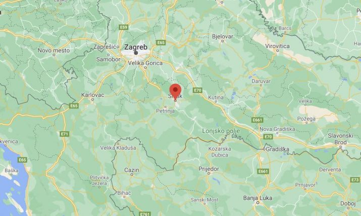 Sisak shifts eastward 10 centimetres, Petrinja 20 centimetres in quake