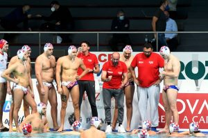 Croatian water polo team has played the first match of two matches against the United States of America