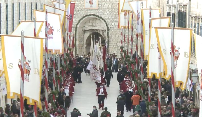 For the 1,049th year in a row, the feast of Saint Blaise, the patron saint of Dubrovnik