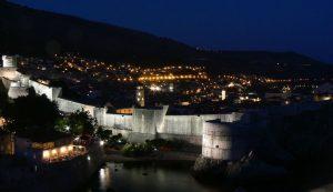 A TV camera recorded last night's earthquake in Dubrovnik
