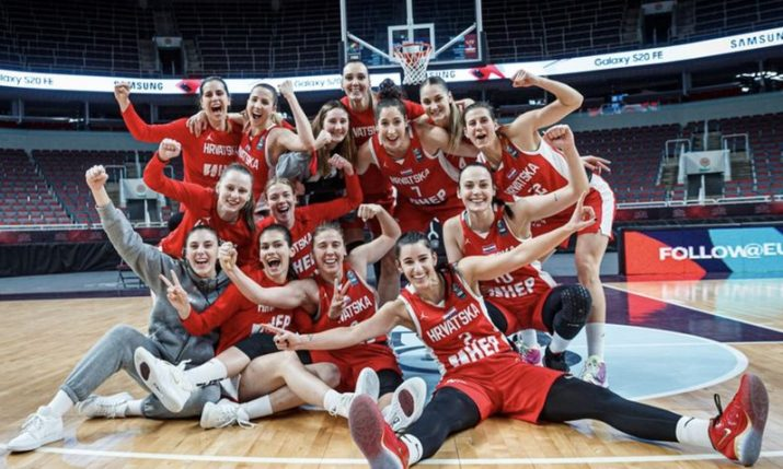 Croatian women's basketball team beats Germany to secure Euro spot