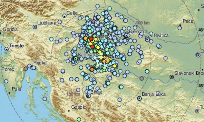 Magnitude 4.1 tremor jolts central Croatia