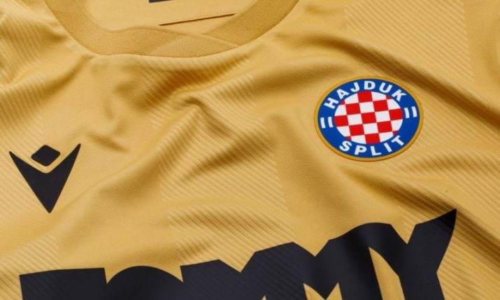 PHOTOS: Hajduk Split present new gold kit to mark 110th birthday