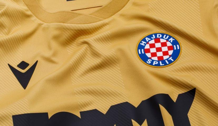 PHOTOS: Hajduk Split present new gold kit to mark 110th birthday