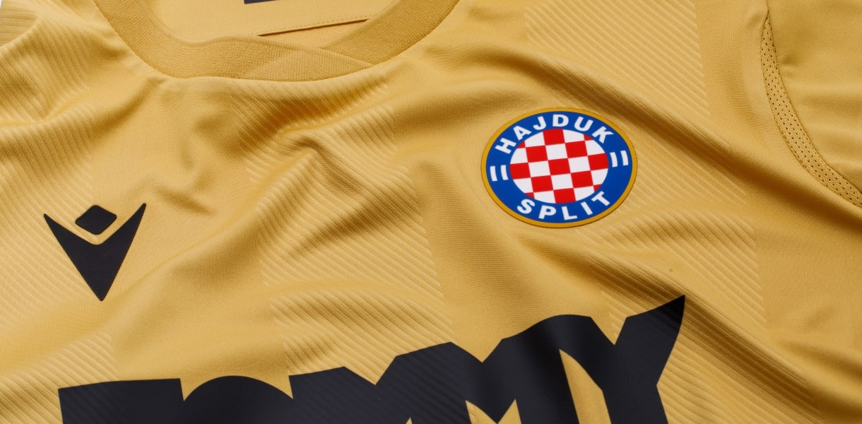 Hajduk Split present new gold kit to mark 110th birthday