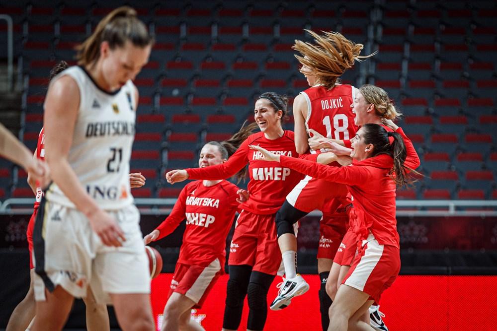 Croatian women's basketball team beats Germany to secure Euro spot
