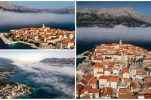 Korčula: Rare weather phenomena creates stunning photo op on Croatian island