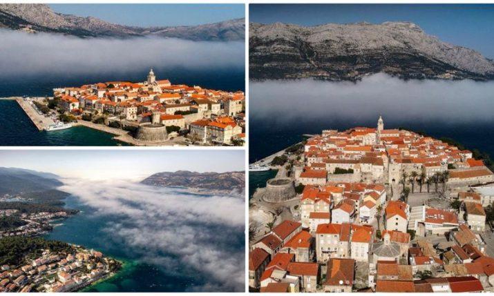 Korčula: Rare weather phenomena creates stunning photo op on Croatian island
