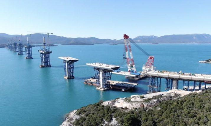 VIDEO: Pelješac Bridge pillar connected with the mainland