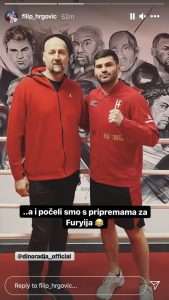 Basketball great Dino Rađa pays Filip Hrgović a visit: 'Prep for Tyson Fury has begun'