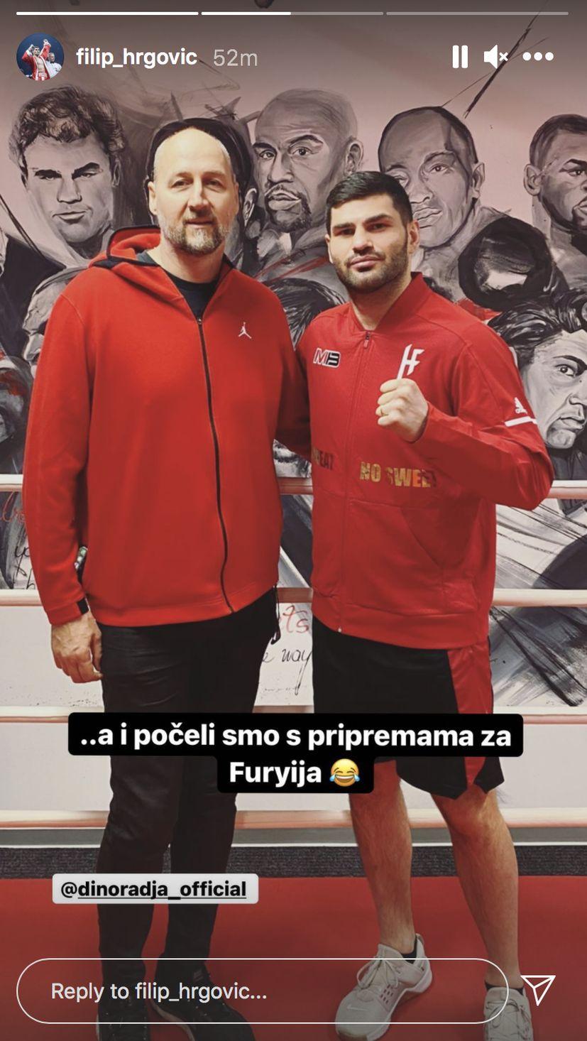 Basketball great Dino Rađa pays Filip Hrgović a visit: 'Prep for Tyson Fury has begun'
