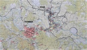 Petrinja and Sisak shifted up to 86 centimetres