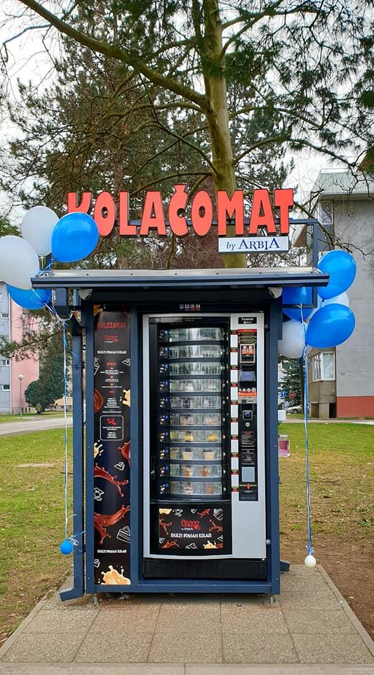 first cake vending machine in croatia varazdin