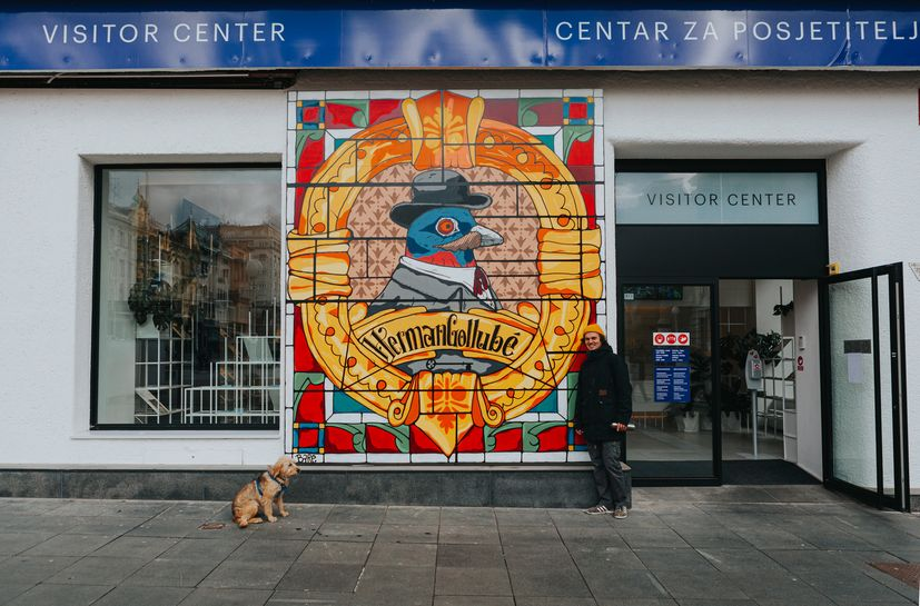 """n cooperation with the Zagreb Tourist Board, the art project Street Triptych started and presented a unique """"exhibition in change""""."""
