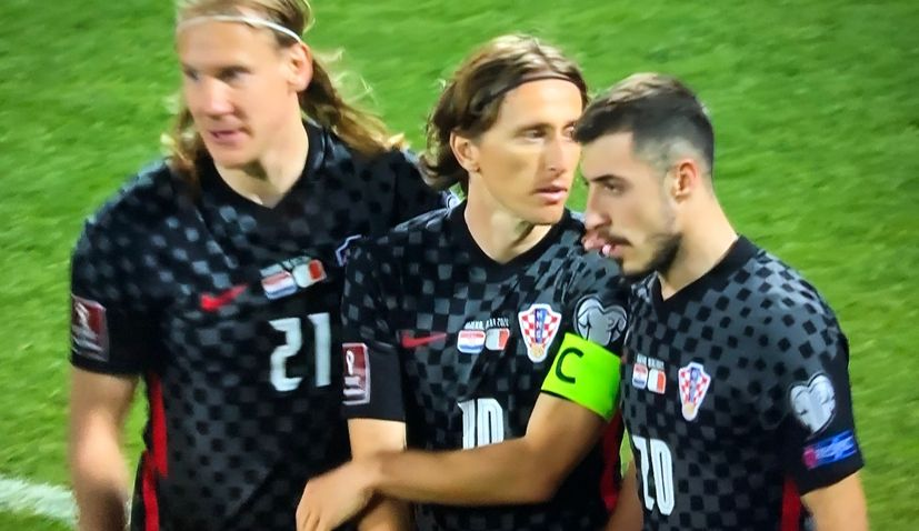Croatia against Malta in their World Cup qualifier at Rujevica