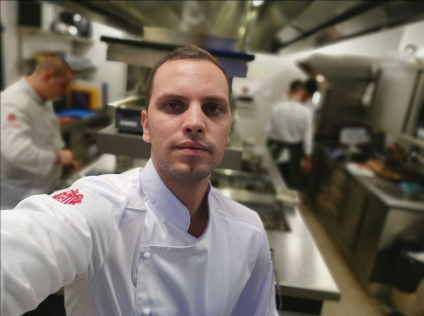 Young Croatian chef Mario Mandarić,
