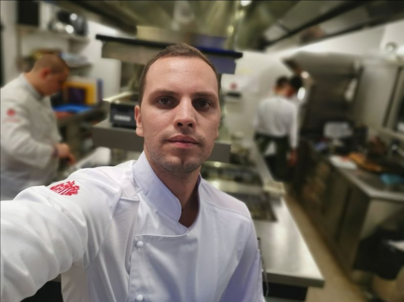 Young Croatian chef Mario Mandarić,