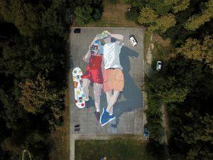Ulični triptih exhibition zagreb street art