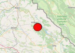 3.4 magnitude earthquake recorded in Dalmatian Hinterland on Sunday