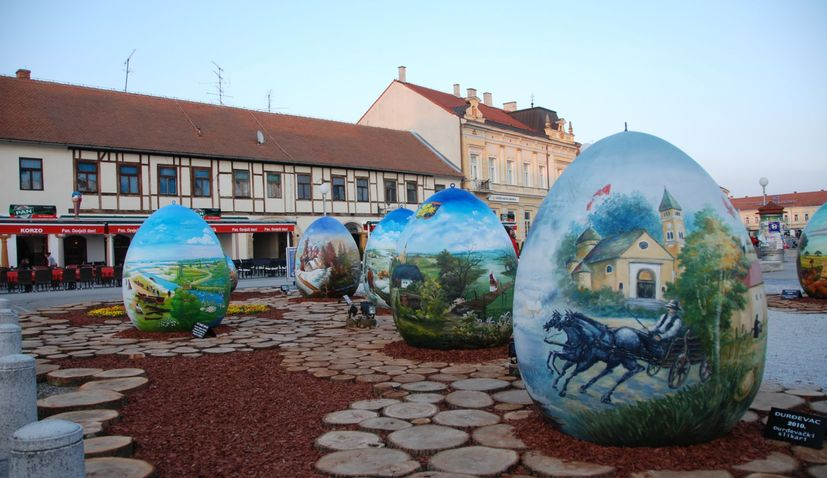 Traditional decorated Easter eggs display opens in Croatian city of Koprivnica