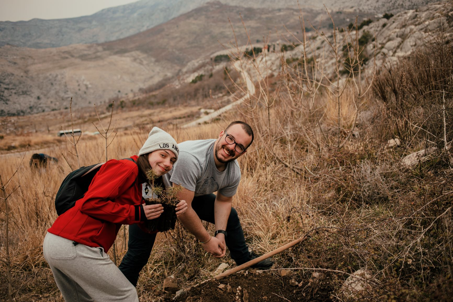 Young volunteers from around Europe are taking part in the reforestation drive around the Dalmatian city of Split.