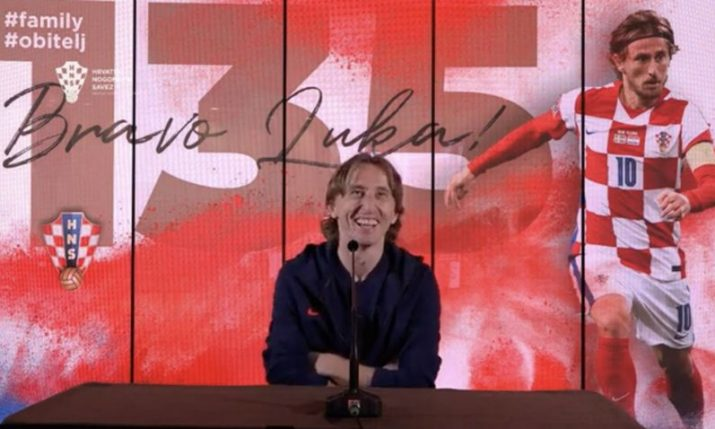 VIDEO: Modrić's family and friends replace journalists at press conference