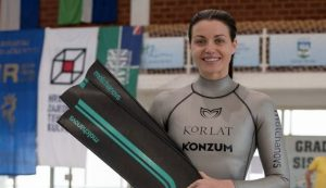 Croatian freediver Mirela Kardašević breaks 2 world records in 2 days