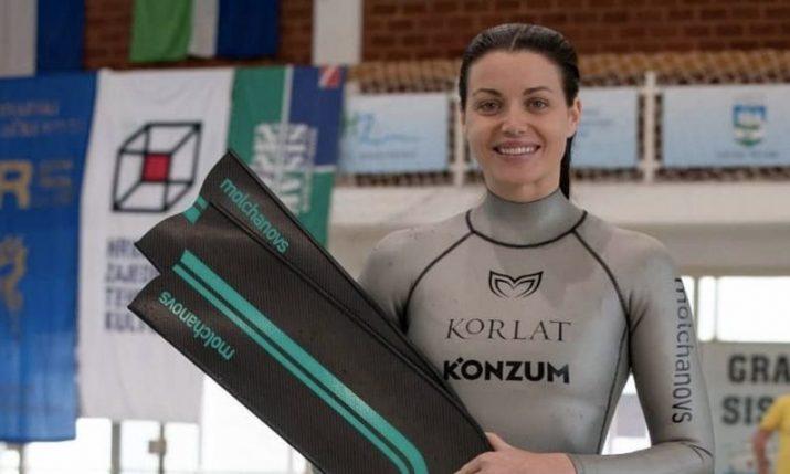 Croatian freediver Mirela Kardašević smashes 2 world records in 2 days