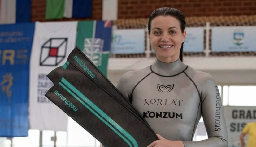 Croatian freediver Mirela Kardašević smashes 2 world records in 2 days