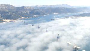 Check out latest Pelješac bridge video in amazing fog