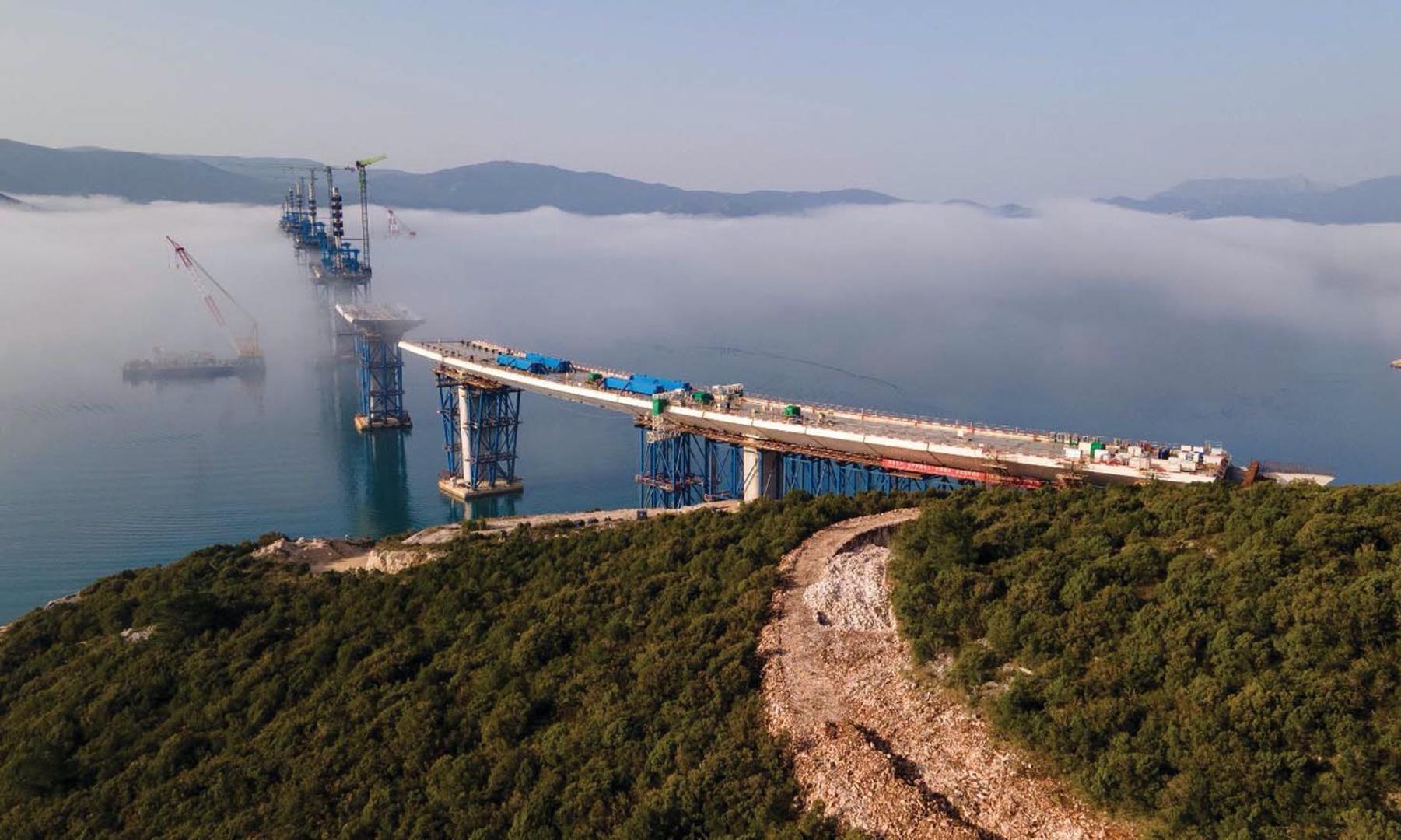 Connecting Croatia: 65% of Pelješac Bridge complete