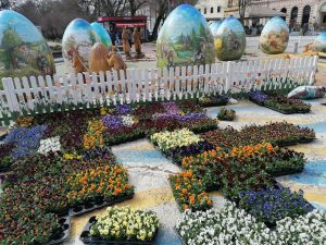 Traditional display of giant decorated Easter eggs opens in Croatian city
