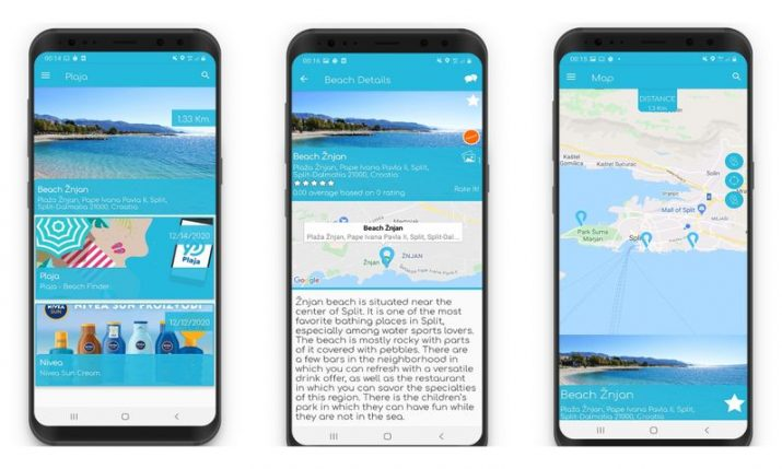 Croatian beach finder app released