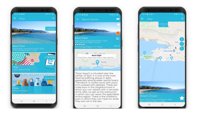Croatian beach finder app released