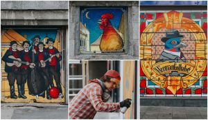 """cooperation with the Zagreb Tourist Board, the art project Street Triptych started and presented a unique """"exhibition in change""""."""