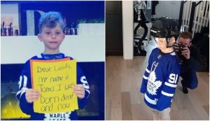 Viral video helping Toma's dream to play ice hockey come true