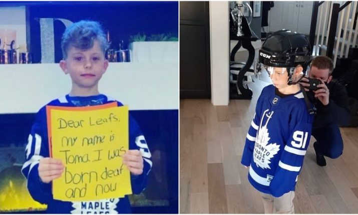 Viral video helps Toma's dream to play ice hockey