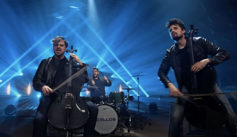 VIDEO: Croatia's 2CELLOS are back after two-year break