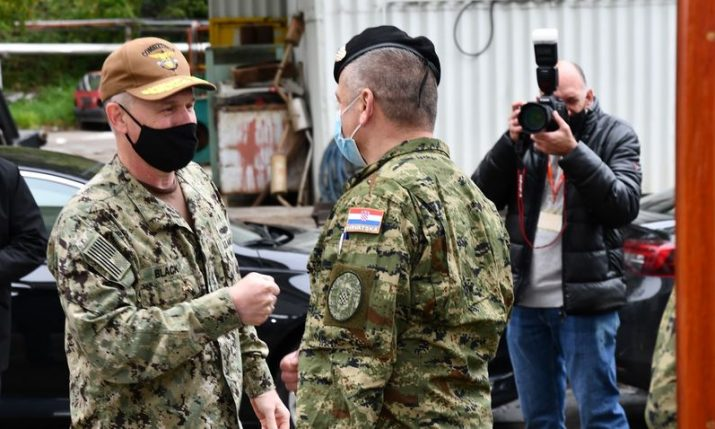 U.S. Sixth Fleet Commander Vice Admiral Black visits Croatia