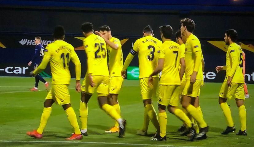Villarreal lead dinamo zagreb
