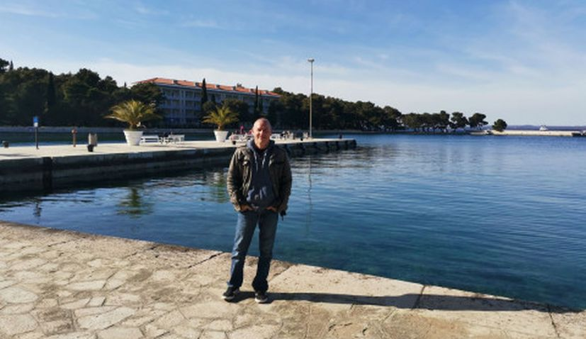 Former Formula One champion, Canadian Jacques Villeneuve, has been enjoying the Easter holidays in Croatia.