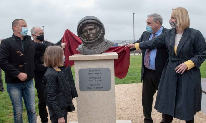 Yuri Gagarin bust unveiled in Pula