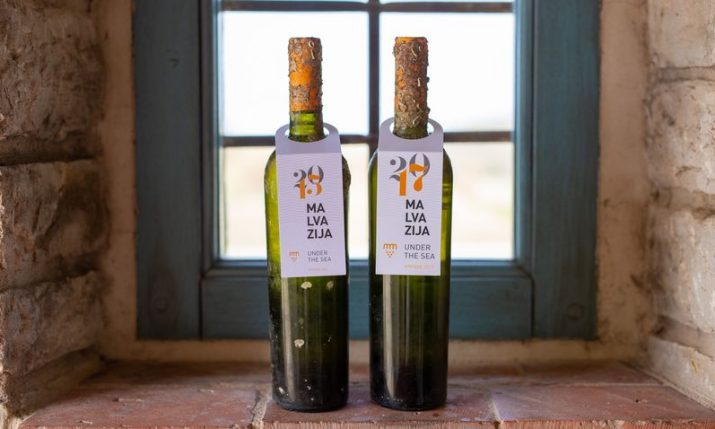 Istrian winery presents Malvasia wine aged under the sea