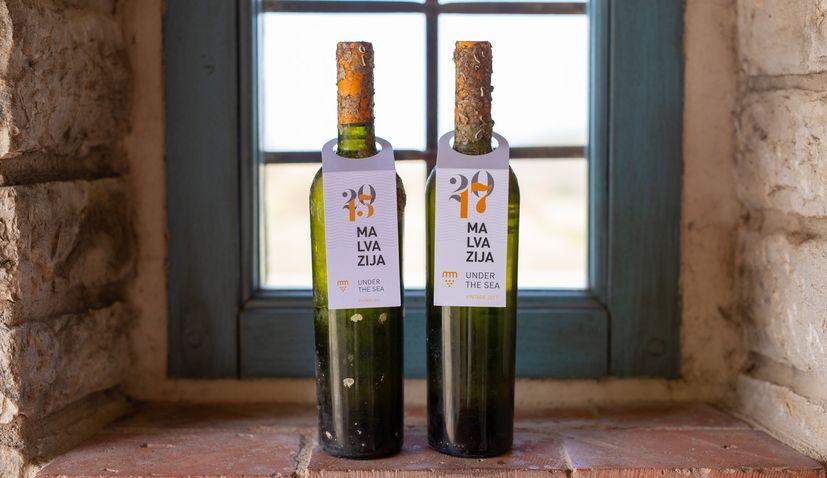 Istrian winery presents Malvasia wine aged under the sea