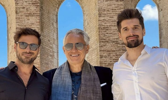 2CELLOS together again and joined by Andrea Bocelli