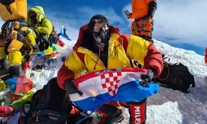 Mario Celinić now the sixth Croatian to climb Mount Everest