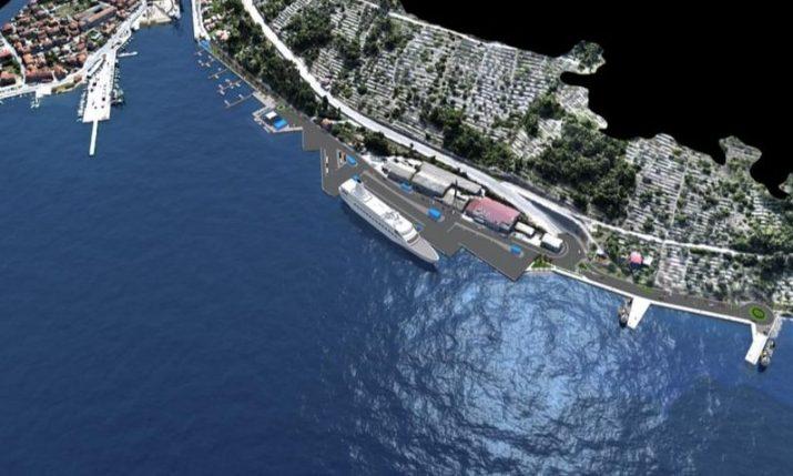 New ferry terminal being built in Vela Luka on Korčula